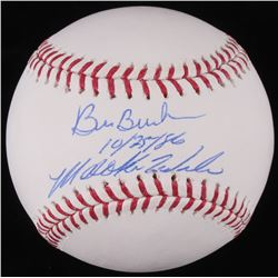 Bill Buckner  Mookie Wilson Signed OML Baseball Inscribed  10/25/86  (JSA COA)