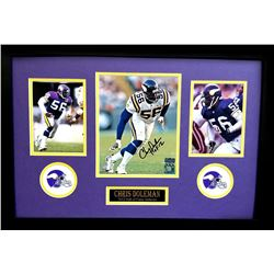 Chris Doleman Signed Vikings 16x26 Custom Framed Photo Display Inscribed  HOF 12  (Radtke COA)