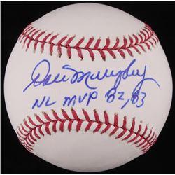 """Dale Murphy Signed OML Baseball Inscribed """"NL MVP 82, 83"""" (JSA COA)"""
