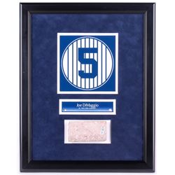 Joe DiMaggio #5 Custom Framed 16.5x20.5 New York Yankees Stadium Monument Park Brick Display (Steine