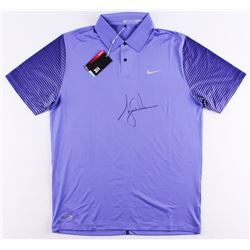 Tiger Woods Signed LE Purple Nike Golf Shirt (UDA COA)
