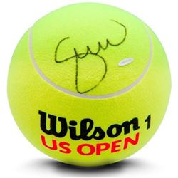 Serena Williams Signed Jumbo Wilson Yellow Tennis Ball (Upper Deck)