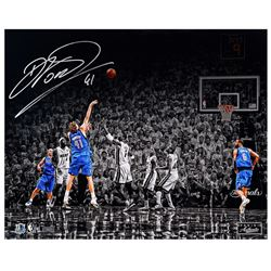 "Dirk Nowitzki Signed Mavericks LE ""Finals"" 16x20 Photo (Panini COA)"