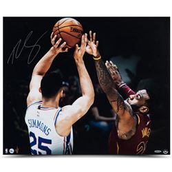 "Ben Simmons Signed 76ers ""Matchup"" 20x24 Photo (UDA)"
