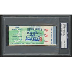 "Frank Robinson Signed 1966 World Series Ticket Inscribed ""1966 W.S. MVP"" (PSA Encapsulated - Autogra"