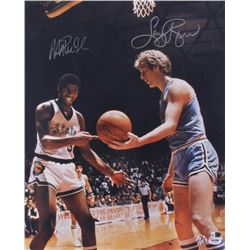 Magic Johnson  Larry Bird Signed 16x20 Photo (PSA Hologram  Bird Hologram)