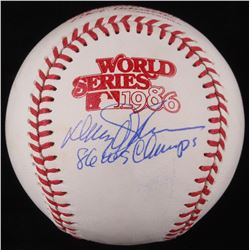 "Davey Johnson Signed Official 1986 World Series Baseball Inscribed ""86 WS Champs"" (JSA COA)"