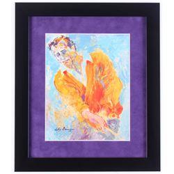 "LeRoy Neiman ""Arnold Palmer"" 13x15 Custom Framed Print"