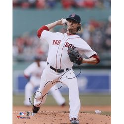 "Clay Buchholz Signed Red Sox 16x20 Photo Inscribed ""Boston Strong"" (MLB Hologram, Fanatics Hologram)"