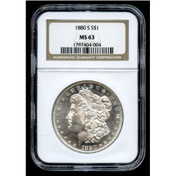 1880-S Morgan Silver Dollar (NGC MS 63)