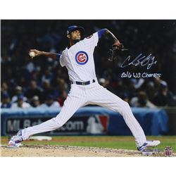 "George Springer Signed ""Sports Illustrated"" 16x20 Photo Inscribed ""2016 WS Champs"" (MLB Hologram  Fa"