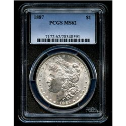1887 Morgan Silver Dollar (PCGS MS 62)