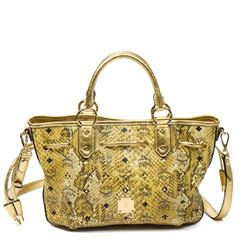 MCM Studded Drawstring Shopper Tote PM