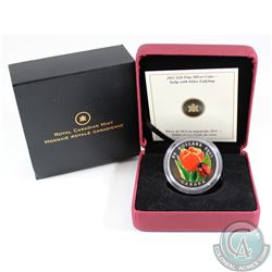 2011 Canada $20 Tulip with Venetian Glass Ladybug Fine Silver Coin (TAX Exempt)