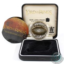 2003 New Zealand Post $1 Lord of the Rings Sterling Silver Coin. Please note the coin is toned and C