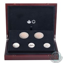 2017 Canada Legacy of the Penny Fine Silver 5-coin Set (Tax Exempt). Please note some capsules have