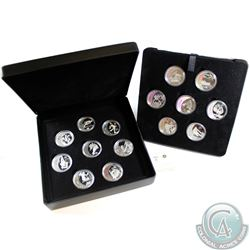 2007-2009 Canada $25 Vancouver Olympic 15-coin Sterling Silver Hologram Set (missing outer sleeve)