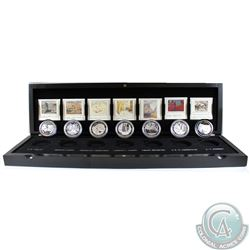 2012-2013 Canada $20 Complete Group Of Seven 7-coin Fine Silver Set in Deluxe Display Case (outer sl