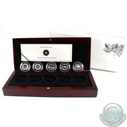 2012 Canada 1-cent Farewell to the Penny Silver 5-coin Set (Tax Exempt).