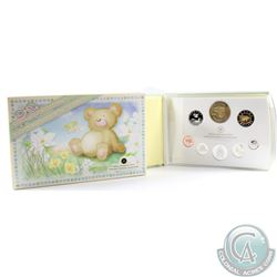 2006 Canada Baby Sterling Silver Proof Set with Medallion and Loon (5-cent is lightly toned)