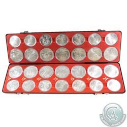 Estate Lot of FULL 1976 Olympic $5 and $10 Sterling Silver 28-coin Set Featuring Series 1 to 7 in Or