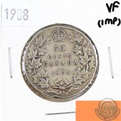 1908 Canada 50-cent VF-20 (Impaired)