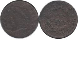 1810 USA 1-cent Normal Date F-VF (F-15) Corrosion