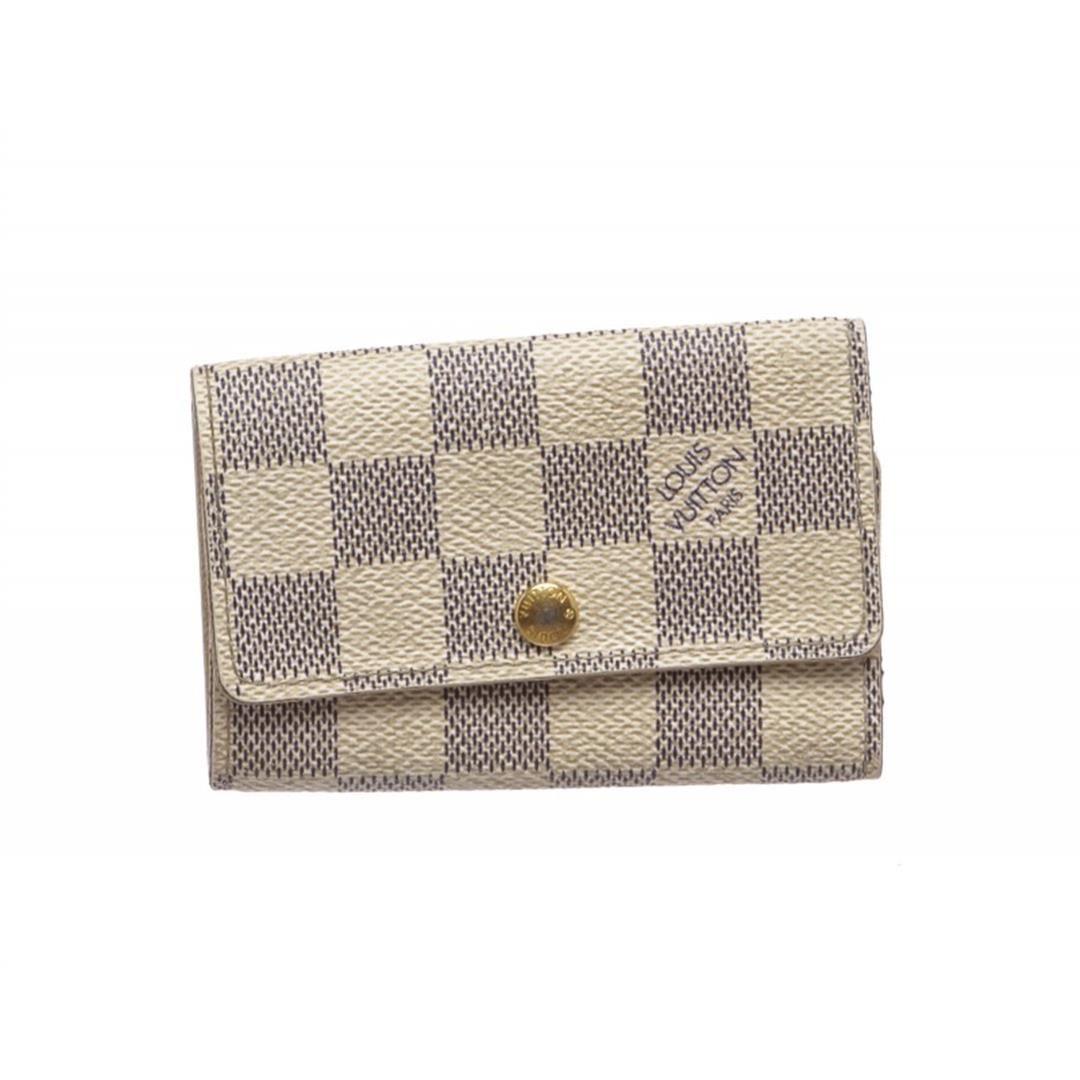 2c71f432a9a3 Image 1   Louis Vuitton Damier Azur 6 Key Holder Wallet ...
