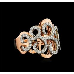 14KT Rose Gold 0.62 ctw Diamond Ring