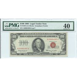1966 $ 100 Legal Tender Note PMG Extremely Fine 40
