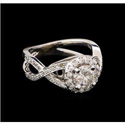 1.38 ctw Diamond Ring - 14KT White Gold