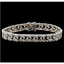 1.50 ctw Diamond Bracelet - 14KT White Gold