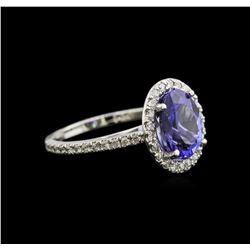 2.65 ctw Tanzanite and Diamond Ring - 14KT White Gold