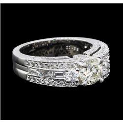 2.14 ctw Diamond Ring - 18KT White Gold