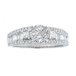 0.98 ctw Diamond Ring - 18KT White Gold
