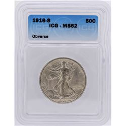 1916-S Walking Liberty Half Dollar Coin ICG MS62 Obverse