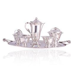 Tango Aceves blossom Sterling Tea & Coffee Service