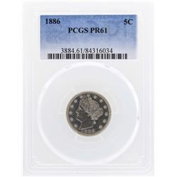 1886 Liberty Nickel Proof Coin PCGS PR61
