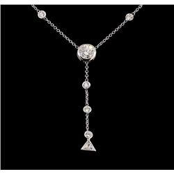 2.50 ctw Diamond Necklace - 14KT White Gold