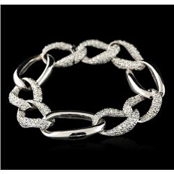 18KT White Gold 3.59 ctw Diamond Bracelet