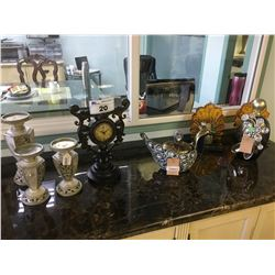 WALL CLOCK, CANDLE HOLDERS & DECOR ITEMS