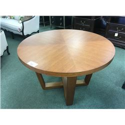 MODERN ROUND CHERRY DINING TABLE