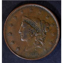 1836 LARGE CENT N-5 XF