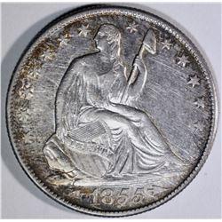 1855-O SEATED HALF DOLLAR, AU