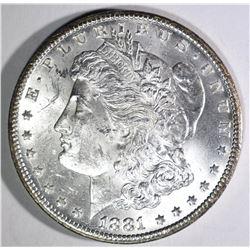 1881-CC MORGAN  DOLLAR, CH BU+
