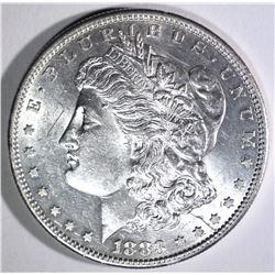 1883-S MORGAN DOLLAR, CH BU scratch on obverse
