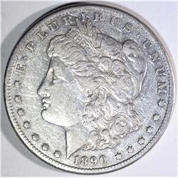 1890-CC MORGAN DOLLAR, XF+