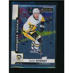 17-18 O-Pee-Chee Platinum #156 Carter Rowney RC
