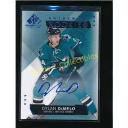 15-16 SP Game Used Autographs Blue Dylan DeMelo