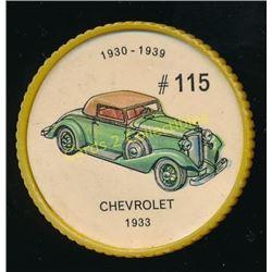1960's Jello Coins Chevrolet 1933